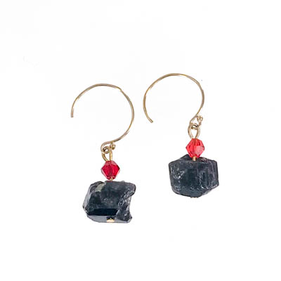 Black Quartz Earrings